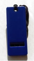 防災笛 薄型軽量 フラットホイッスル ブルー アップの画像