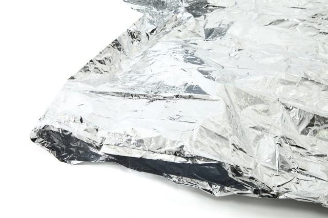 フード付アルミポンチョ(携帯ケース付) フード付きアルミポンチョの袖口部分の画像