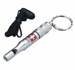 防災笛 水に強い緊急用呼子笛 アルミホイッスル(IDカード付)の商品の画像